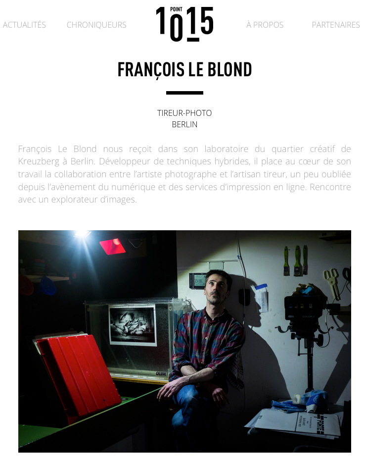 a nice article about my work on a french blog